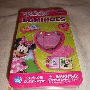 New Disney Minnie Mouse 28 Dominoes in Tin Caniste